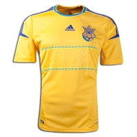 2012 Ukraine Home Yellow Soccer Jersey Shirt Replica