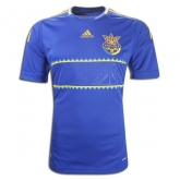 2012 Ukraine Away Blue Soccer Jersey Shirt Replica