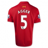 12/13 Liverpool #5 AGGER Red Home Soccer Jersey Shirt Replica
