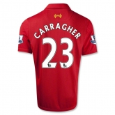 12/13 Liverpool #23 CARRAGHER Red Home Soccer Jersey Shirt Replica