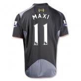 12/13 Liverpool #11 RODRIGUEZ Black Away Soccer Jersey Shirt Replica