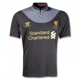 12/13 Liverpool Black Away Soccer Jersey Shirt Replica
