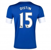 12/13 Everton Home Distin #15 Blue Soccer Jersey Shirt Replica