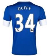 12/13 Everton Home Duffy #34 Blue Soccer Jersey Shirt Replica
