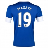 12/13 Everton Home Magaye #19 Blue Soccer Jersey Shirt Replica