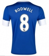 12/13 Everton Home Rodwell  #8 Blue Soccer Jersey Shirt Replica