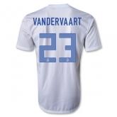 2013 Netherlands #23 VAN DER VAART Away White Jersey Shirt