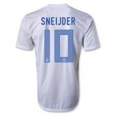 2013 Netherlands #10 SNEIJDER Away White Jersey Shirt