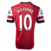 12/14 Arsenal #10 Wilshere Home Red Soccer Jersey Shirt Replica