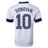 2013 USA #10 DONOVAN Home White Soccer Jersey Shirt