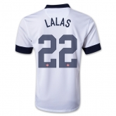 2013 USA #22 LALAS Home White Soccer Jersey Shirt