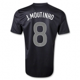 2013 Portugal #8 J.MOUTINHO Away Black Thailand Quality Replica Jersey Shirt