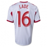 13-14 Red Bulls #16 LADE Home White Soccer Jersey Shirt