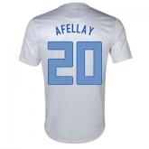 2013 Netherlands #20 Afellay Away White Jersey Shirt