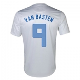 2013 Netherlands #9 Van Basten Away White Jersey Shirt