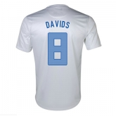2013 Netherlands #8 Davids Away White Jersey Shirt