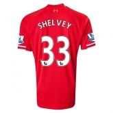 13-14 Liverpool #33 SHELVEY Home Red Soccer Shirt