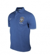 2013 Brazil Blue Polo T-Shirt
