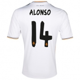 13-14 Real Madrid #14 Alonso Home Jersey Shirt
