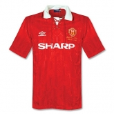 92-94 Manchester United Home Soccer Jersey Shirt