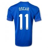 2013 Brazil #11 OSCAR Blue Away Jersey Shirt Replica
