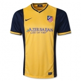 13-14 Atletico Madrid Away Yellow Soccer Jersey Shirt