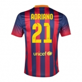 13-14 Barcelona #21 Adriano Home Soccer Jersey Shirt