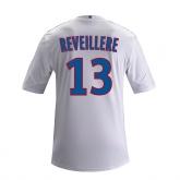 13-14 Olympique Lyonnais #13 Reveillere Home White Jersey Shirt