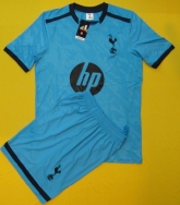 13-14 Tottenham Hotspur Away Blue Jersey Kit(Without Logo)