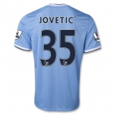 13-14 Manchester City #35 JOVETIC Home Soccer Shirt