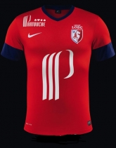 13-14 Lille OSC Home Red Jersey Shirt