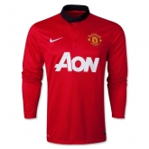 13-14 Manchester United Home Long Sleeve Jersey Shirt