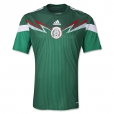 2014 Mexico Home Green Replica Soccer Jersey Shirt