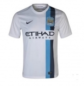 13-14 Manchester City Champion League Away White Shirt