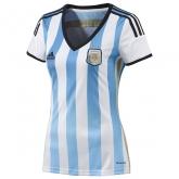 2014 Argentina Home Women's Soccer Jersey Shirt