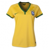 2014 Brazil Home Women's Jersey Shirt