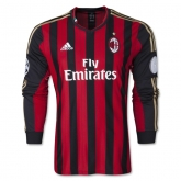 13-14 AC Milan Home Long Sleeve Soccer Jersey Shirt