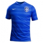 2014 Brazil Away Blue Soccer Jersey Shirt