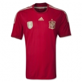 2014 World Cup Spain Home Red Jersey Shirt(Player Version)