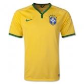 2014 Brazil Home Yellow Jersey Shirt