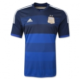 2014 Argentina Away Blue Soccer Jersey Shirt
