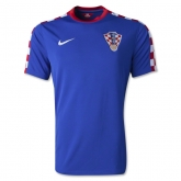 2014 World Cup Croatia Away Blue Soccer Jersey Shirt