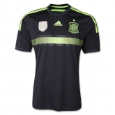 2014 World Cup Spain Away Black Jersey Kit(Shirt+Short)