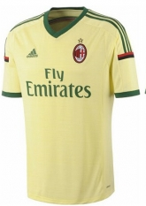 14-15 AC Milan Away Yellow Jersey Shirt