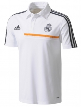 2014 Real Madrid White Core Polo T-Shirt
