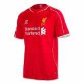 14-15 Liverpool Home Red Soccer Jersey Shirt