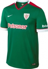14-15 Athletic Bilbao Away Green Soccer Jersey Shirt