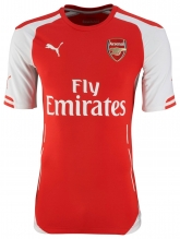 14-15 Arsenal Home Red Soccer Jersey Shirt