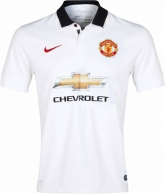 14-15 Manchester United Away White Jersey Shirt