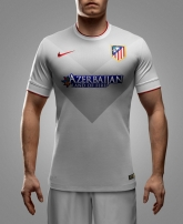 14-15 Atletico Madrid Away Gray Soccer Jersey Shirt(Player Version)